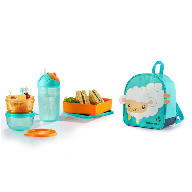 [Ready Stock] Tupperware Back To School Set and Backpack