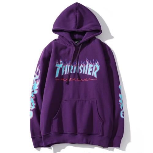 HOT 2019 Men Women Hip-hop Hoodie Basic Skateboard Thrasher Sweatshirts Sweater