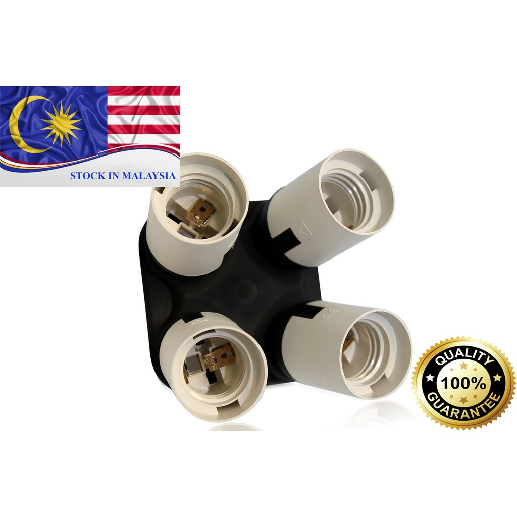 4 in 1 E26/E27 Light Socket Splitter (Ready Stock In Malaysia)