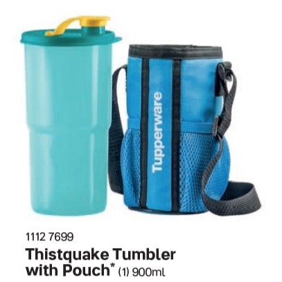 Tupperware Water Bottle Tumbler 900ml (Thirstquake Tumbler with Pouch)
