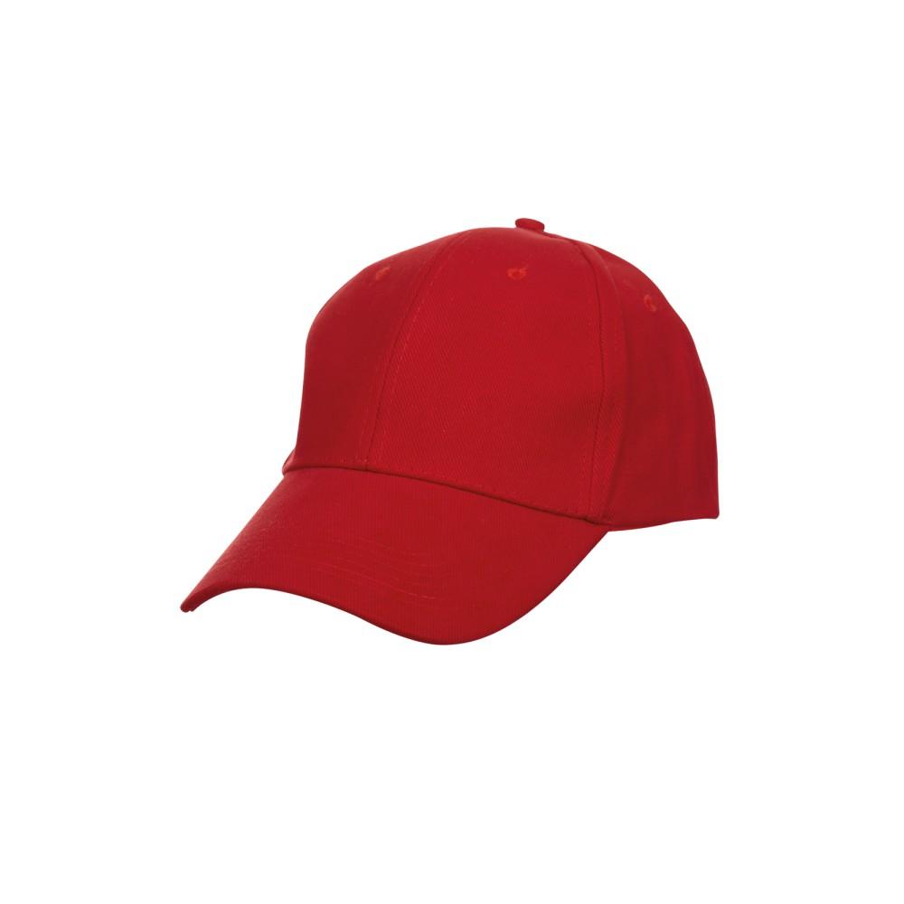 Red Sport Cap BASEBALL 6-PANEL
