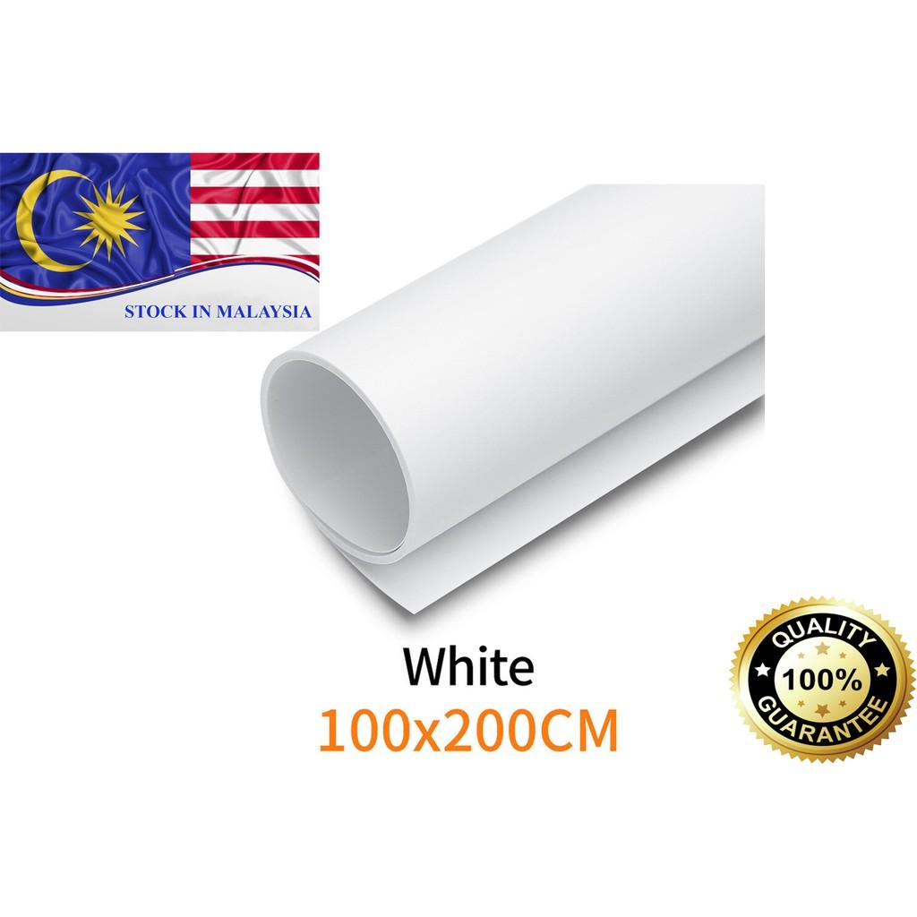 PVC Photography Studio Lighting Backdrop Washable White 200 x100cm (Ready Stock In Malaysia)