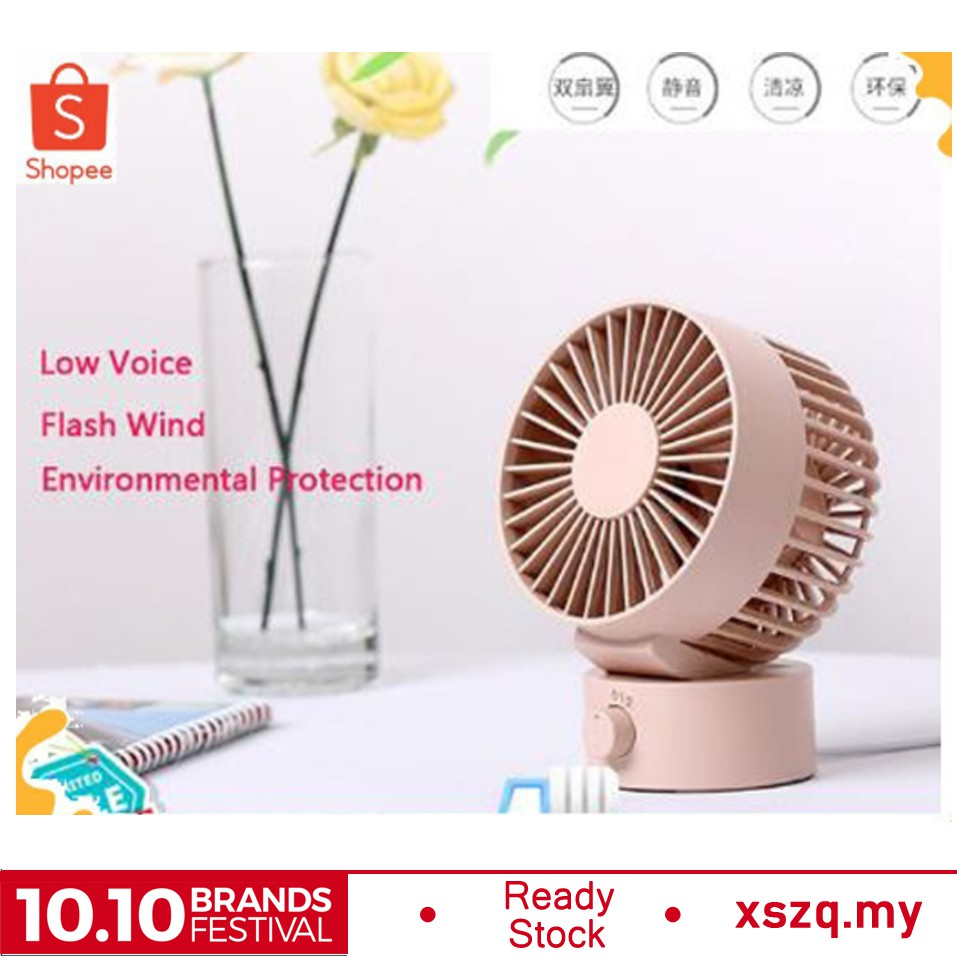 Portable Cooling Air Cooler Travel Office USB Charge Table Desk Silent MiniFan