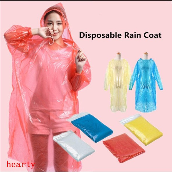 1//5PCS Disposable Poncho Protective Suit Outdoor Waterproof Rain Coat Poncho