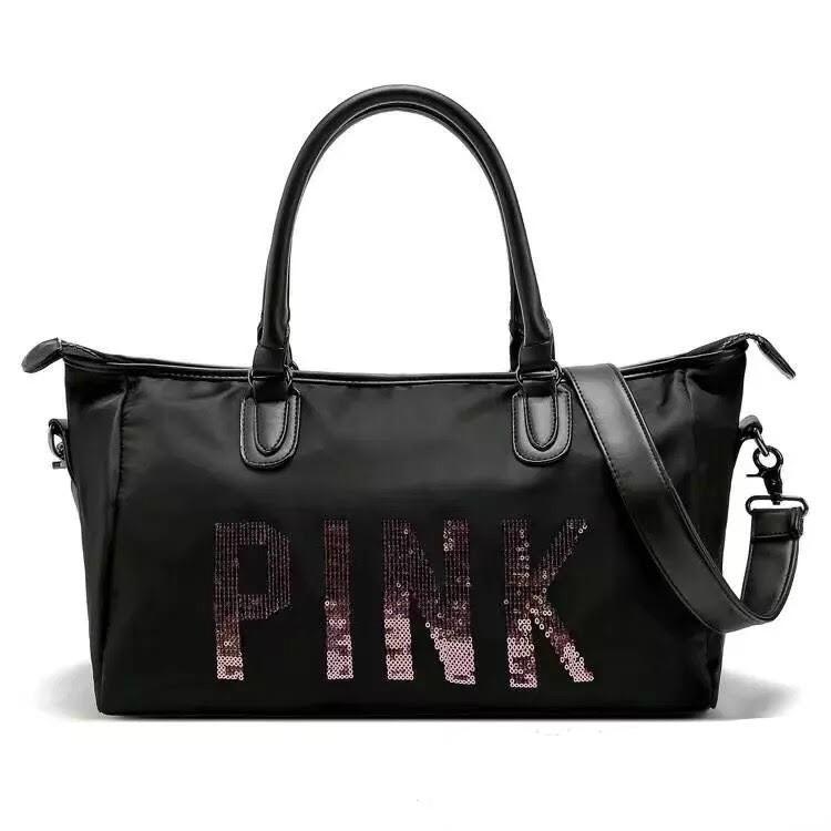 f4688fc37b55 Victoria s Secret bag Women Travel Bags vs Pink Luggage Tote gym shoulder  Bag