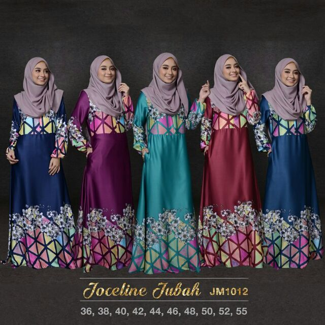 Fashion Two-Piece Joint Batik Design Jubah Dress With Ribbon ... 7b91d17c4a