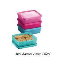 Tupperware mini square away 140ml (4pcs)
