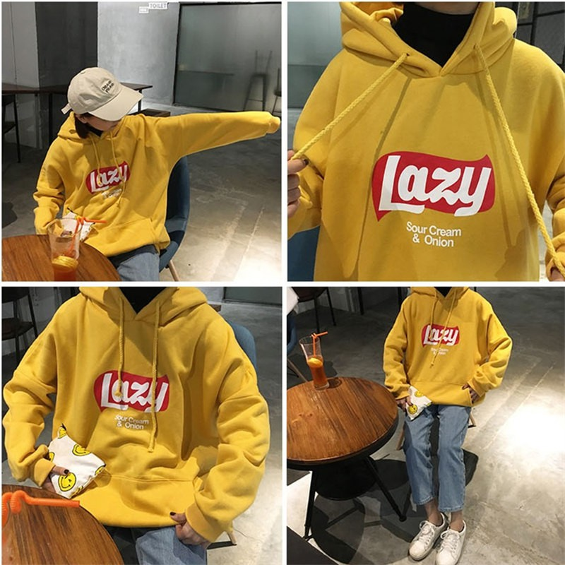 74feddaf1c453 Women Clothing Korean Fashion OH YES Hoodie Sweater