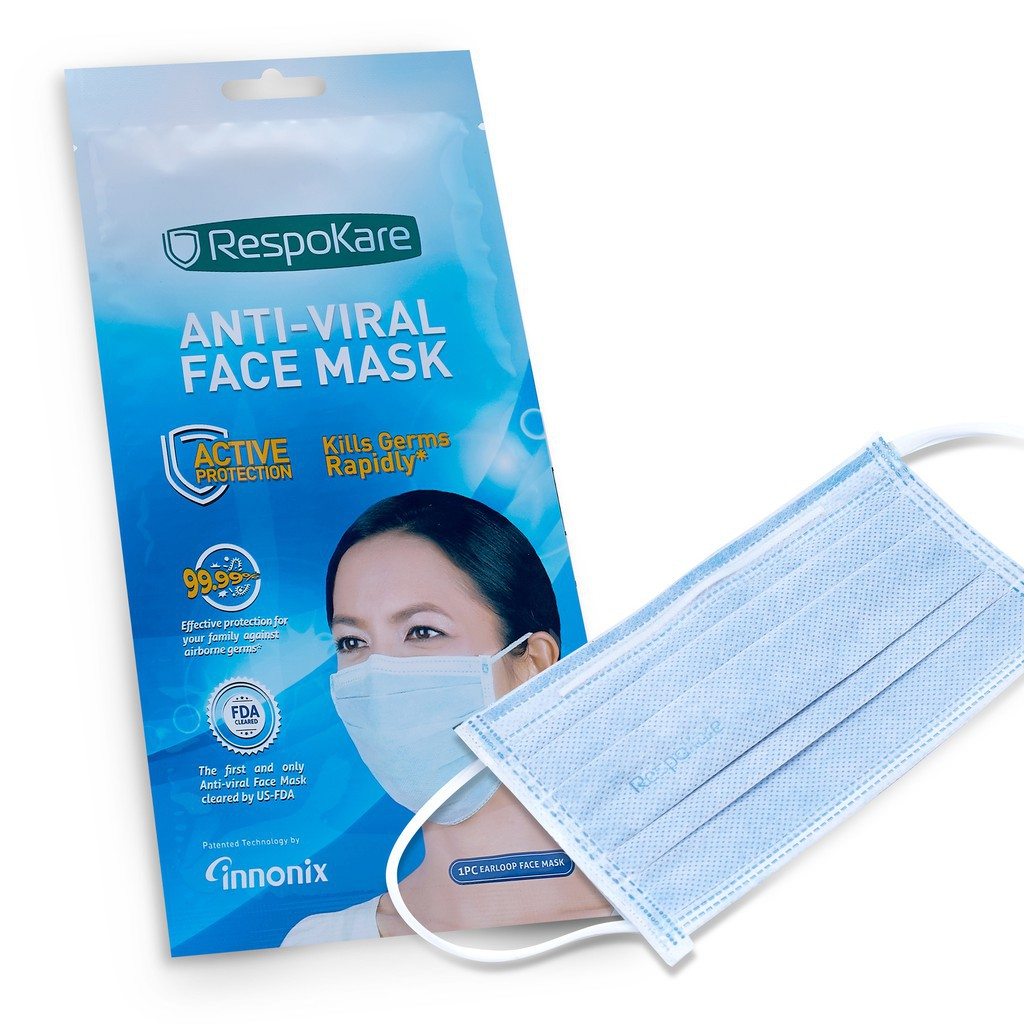 Flu Headloop 1pcs Anti-viral Mask Respokare Face Viral Helps Prevent