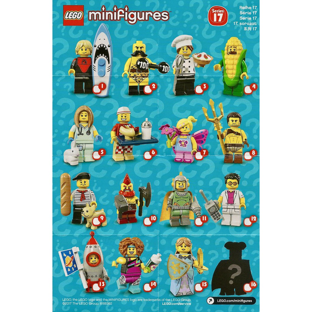 NEW /& SEALED LEGO 71018 Series 17 Complete Set of 16 COLLECTIBLE MINIFIGURES
