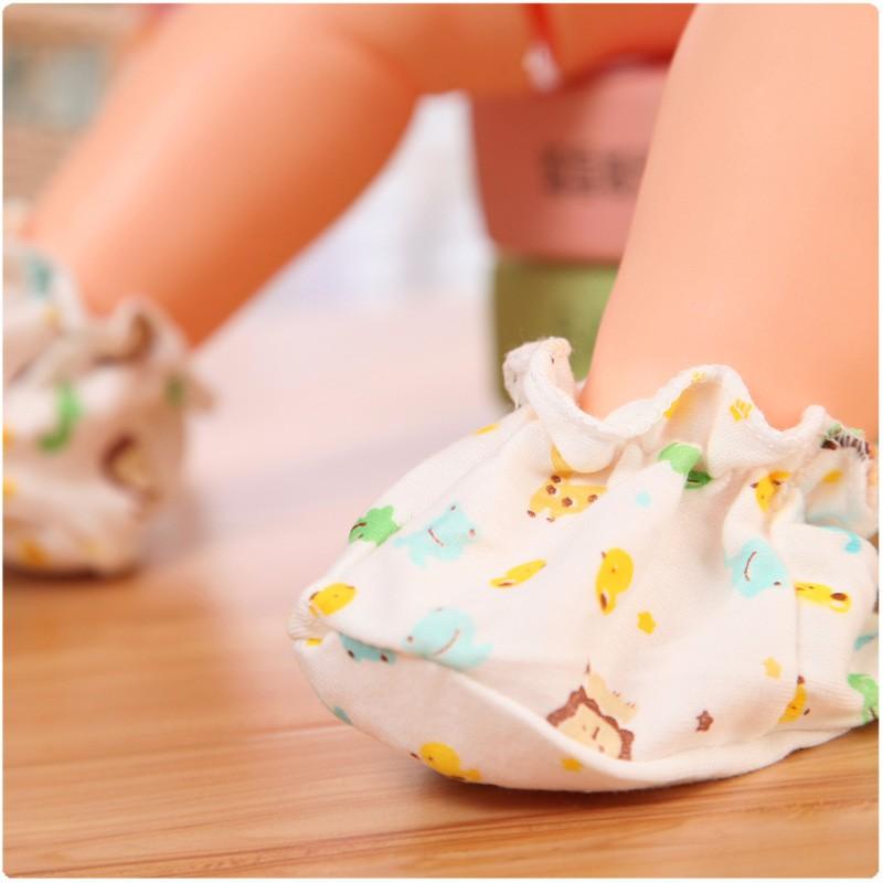Baby Infant Cotton Foot Socks Anti Scratch Protection 0-12 Month 新婴儿手脚保护套防抓 BB0003