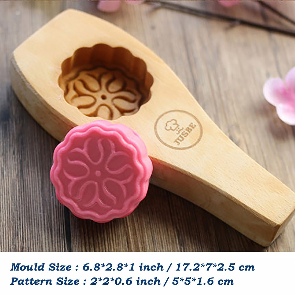 Wooden Moon Cake Mold Cookie Press Diy Cookie Cake Press Cutter Mold 02