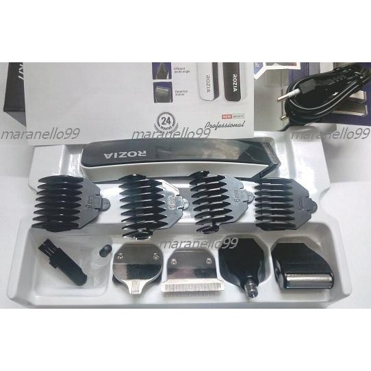 5 Heads in 1 Rozia Rechargeable Hair ,Beard Trimmer