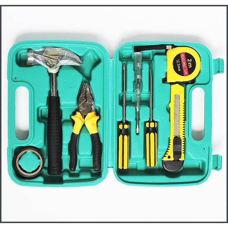9-piece tool box carbon steel car hardware maintenance tool kit tool box household car dual-use combination set
