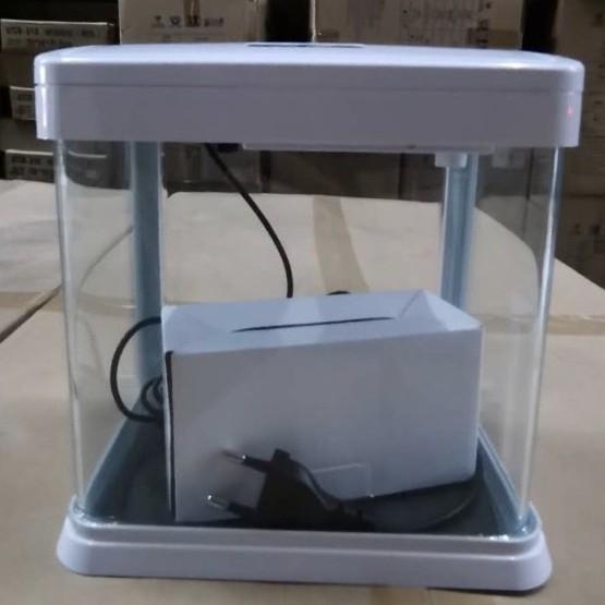 Pretty Mini Aquarium Set with LED light and pump Hos -180F | Cantik & Comel
