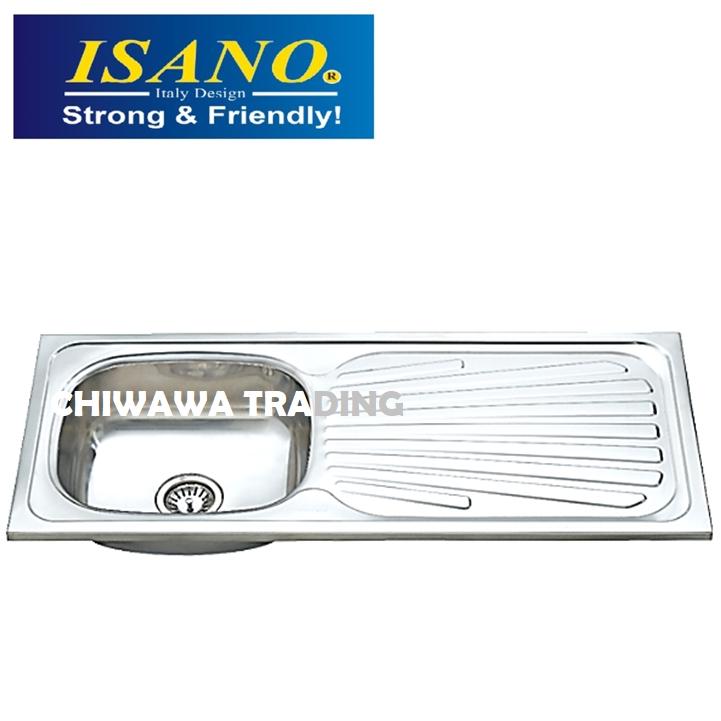ISANO B1817 Stainless Steel Kitchen Sink Bowl Basin Drainer