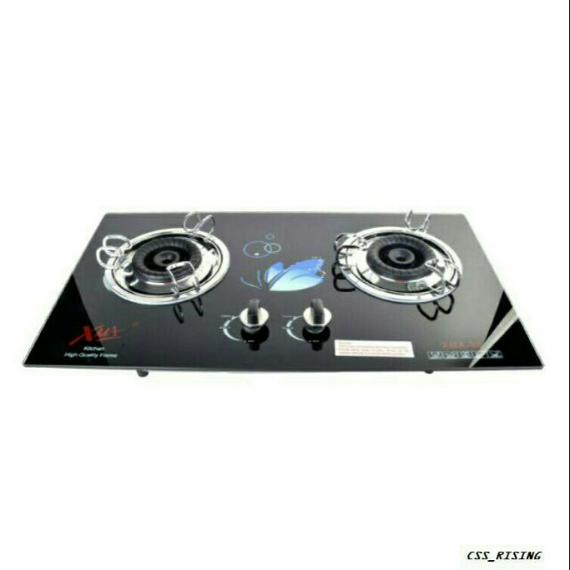 Taka Tk Hb1007 2 Gas Burner Tempered Glass Surface Gas Hob Dapur Gas