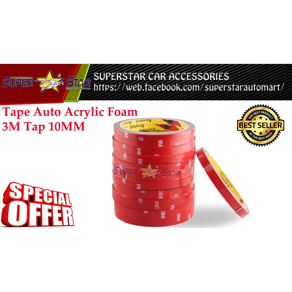 LB Practical Waterproof Double Sided Tape Auto Acrylic Foam Tap 10MM * 3M