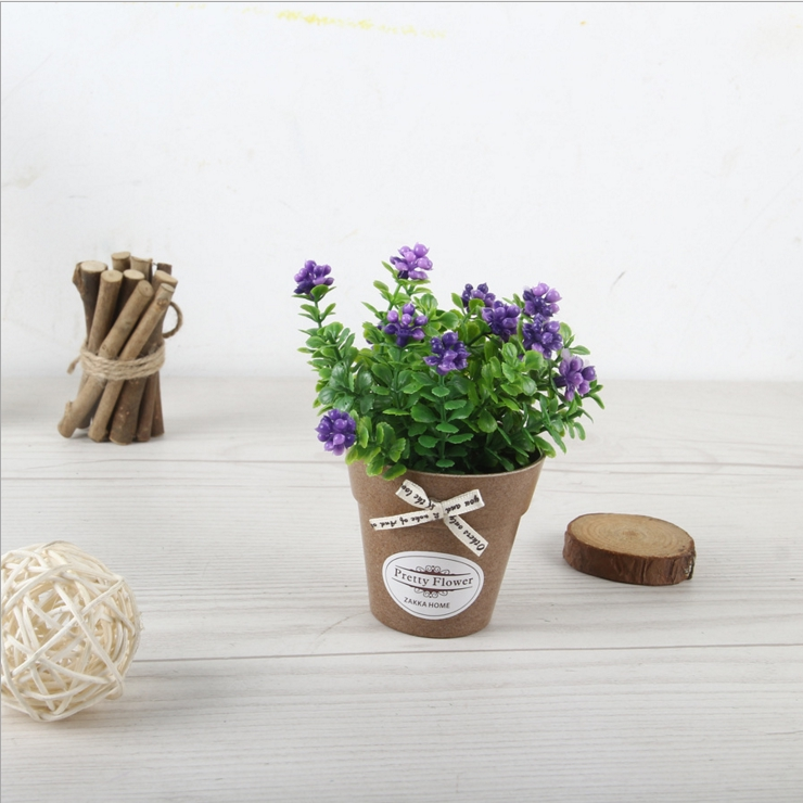 Mini Mulberry Artificial Flower Small Bonsai Set