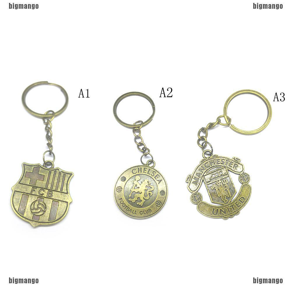 Stainless Steel Handmade Key Chain with Real Madrid FC Crest Silver Color