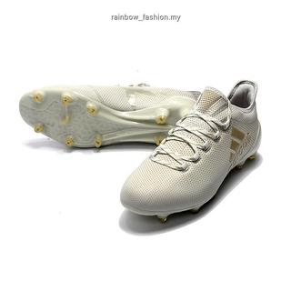 on sale 153c5 2c5b9 Adidas X 17.1 FG TPU gold grey leather low mens sport soccer ...