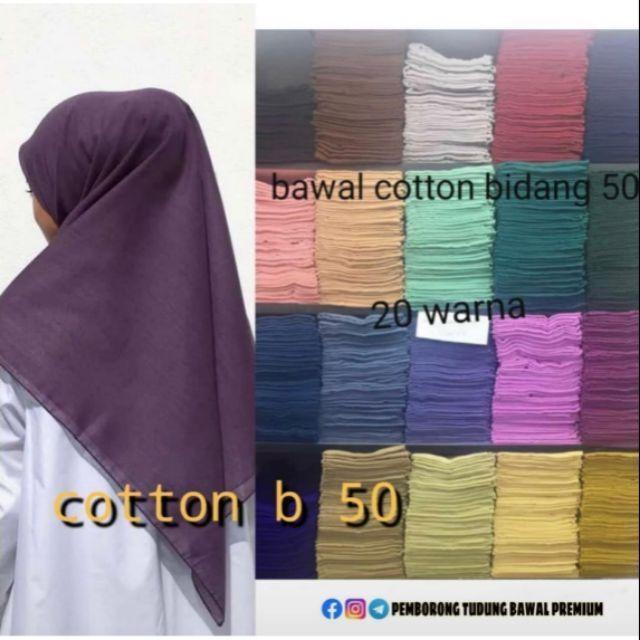 Ready Stock Borong Tudung Bawal Cotton Voile Plain Bidang 50 Shopee Malaysia