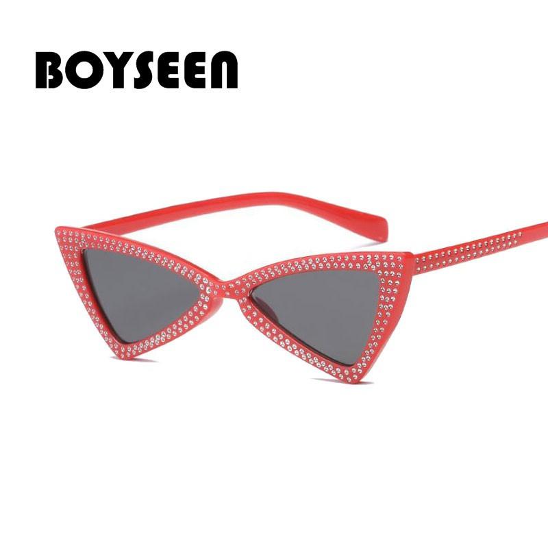 41c2b785dc18d BOYSEEN 2018 Little bee Round Sunglasses Women Retro Lens English Letters  Frame