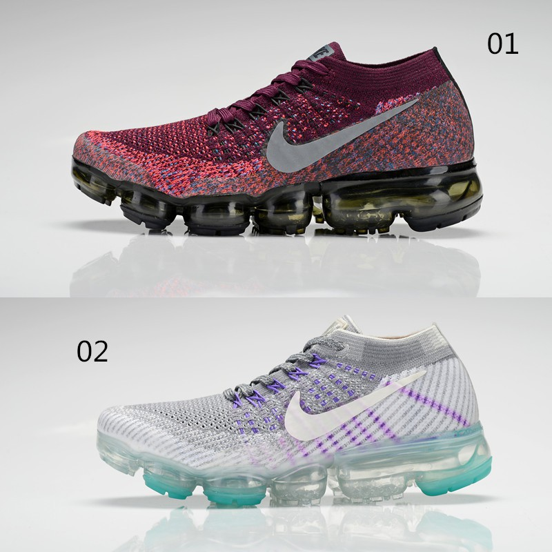 new arrival 1a496 269b9 ☸Ready Stcok ☸ 2018 Nike Air Max VAPORMAX FLYKNIT 2.0 Running Shoes Gray Red