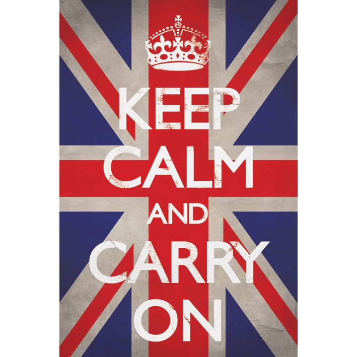 Keep Calm and Go Shopping Mini Poster 40cm x 50cm new and sealed