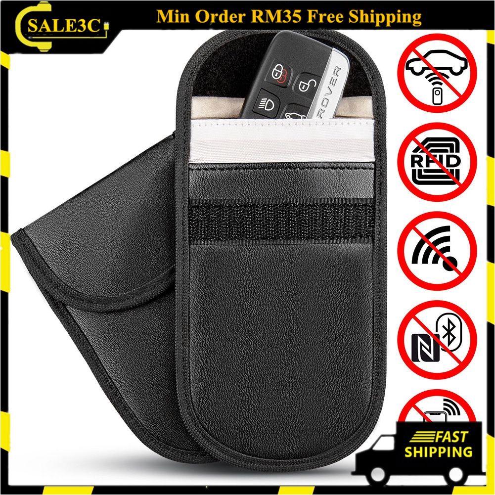 Carbon Fiber Car Key For Faraday Cage Case Fob Pouch Keyless RFID Blocking Bag
