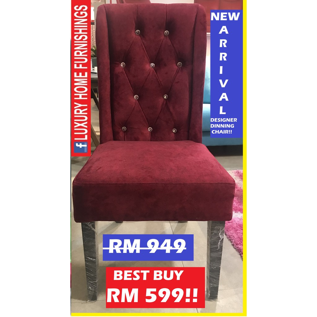 DESIGNER SERIES DINNING CHAIR, NOVA, WATER REPELLENT FABRIC!! COLOR & MATERIAL COULD CHOOSE!! RM 949!! BEST BUY RM 599!!