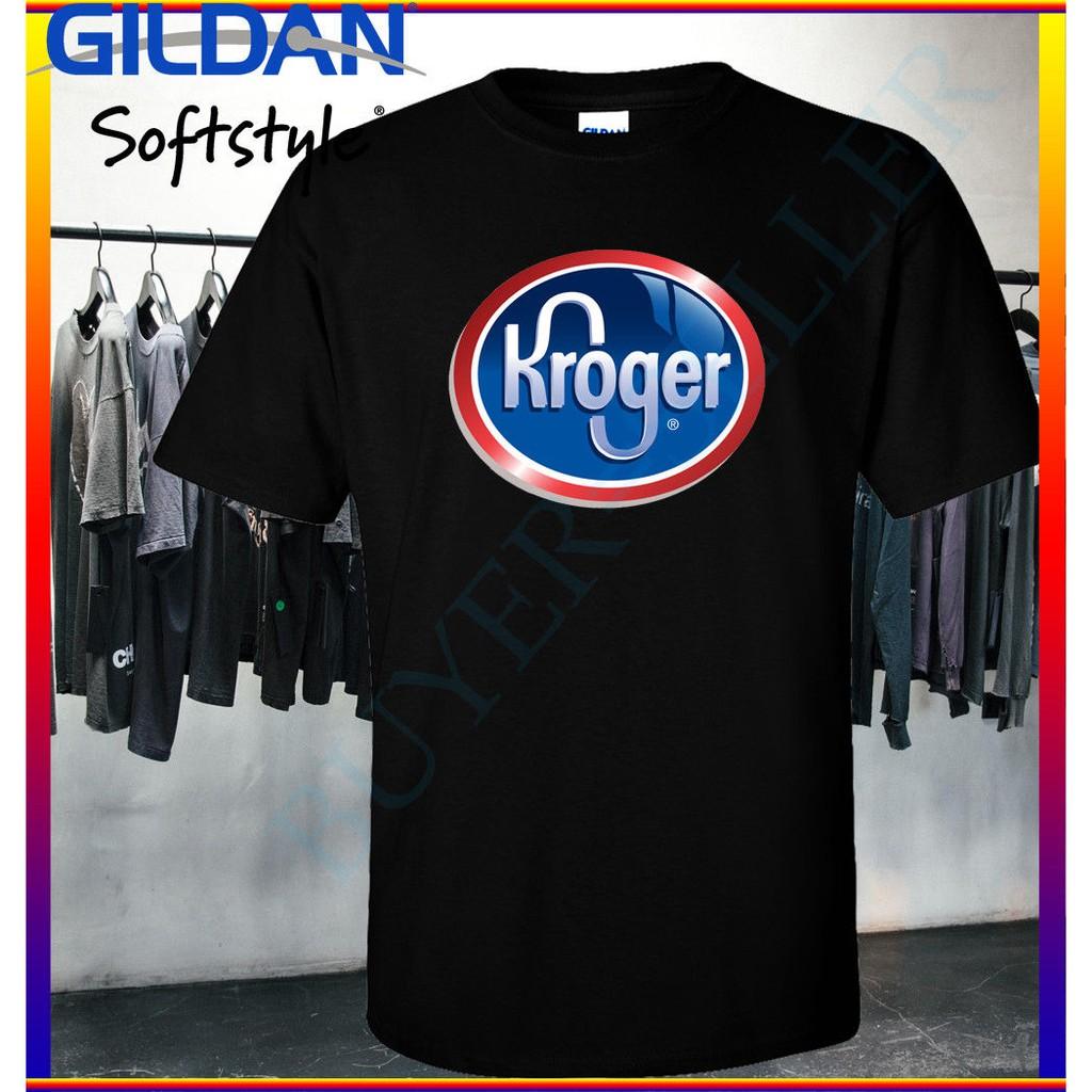 4ded1196 Custom New Kroger Logo Gildan T Shirt Men Tees Black   Shopee Malaysia