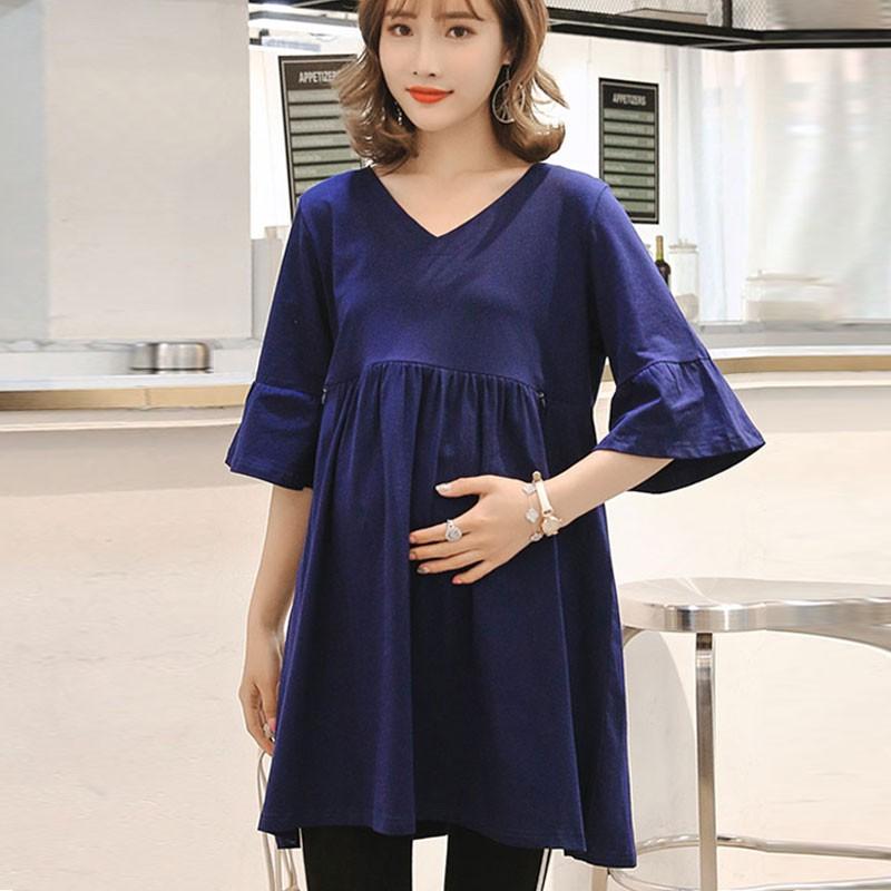 7a9cda822f5 ProductImage. ProductImage. New Summer Women Breastfeeding Maternity Dress  ...