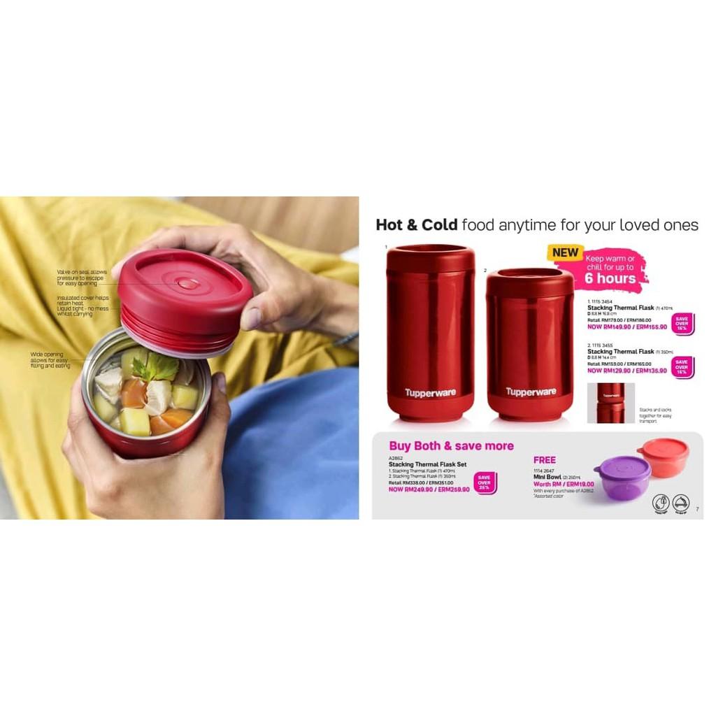 TUPPERWARE Stacking Thermal Flask Set [2pc] Buy Both & save more