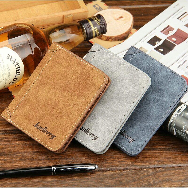 [3Dreams] European American Retro Men's Wallet Men's Card Bag Frosted Leather Wallet Pocket Simple