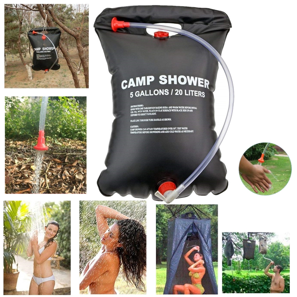 20L Portable PVC Outdoor Camping Solar Energy Heated Shower Bathing Water Bag