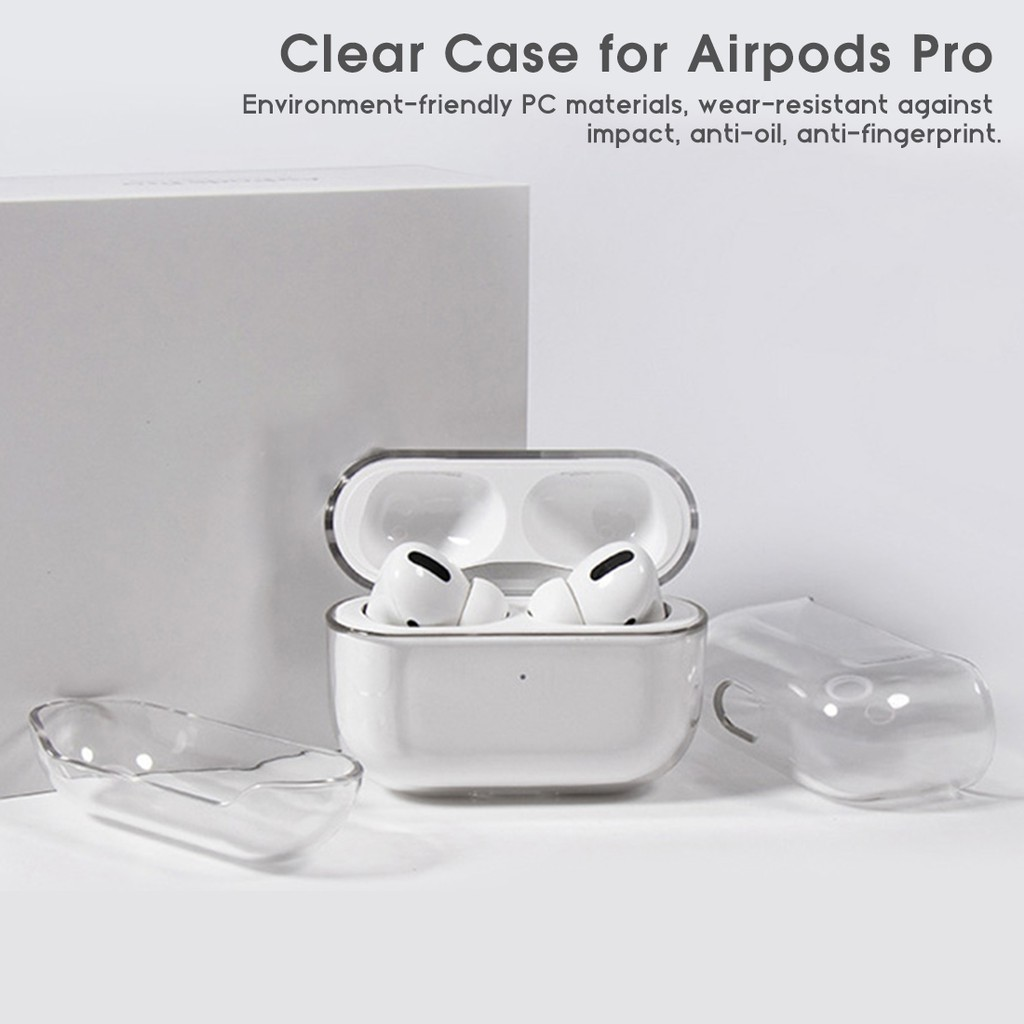 transparent airpods pro wearing