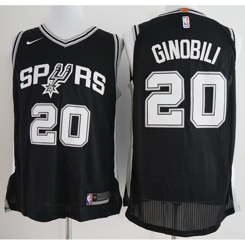 6594e8dc2 Manu Ginobili San Antonio Spurs Adidas Gray Alternate Replica adults Jersey
