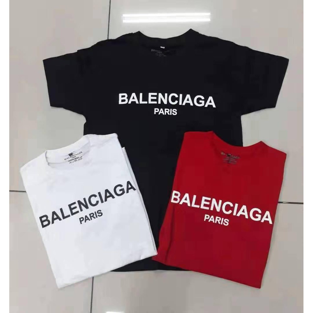cd82771ec9c5 Fakeda High Quality Balenciaga T-shirts unisex casual new short sleeve  cotton | Shopee Malaysia