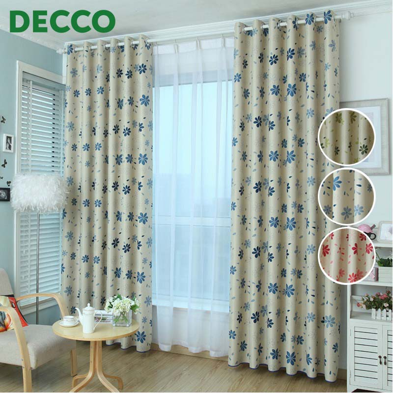 Decco Thick Curtains Beautiful Flower Patterned Curtains Blackout Drape Window Curtain 100cm X 250cm Shopee Malaysia