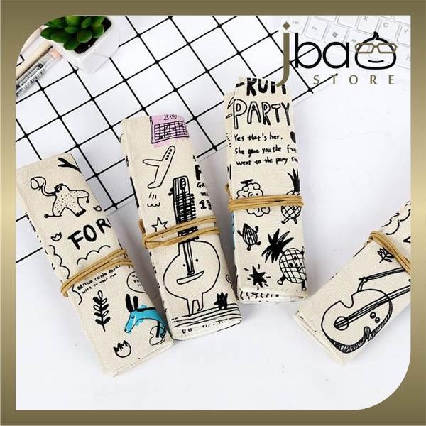 Graffiti Fabric Pencil Case / Cosmetic Organizer Storage Bag