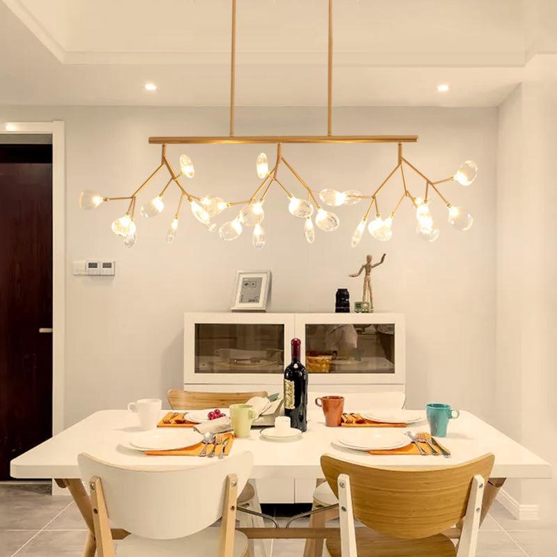 Modern Fireflies LED Chandelier Lighting Living Room Dining Lamp Pendant  Light hanging Light tree branch leaf LED   Shopee Malaysia
