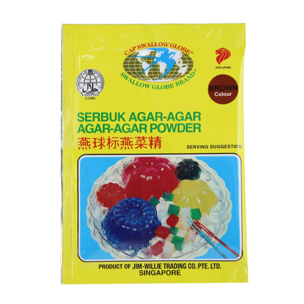 Swallow Globe Brand Colour Agar-Agar Powder (10g) - Brown