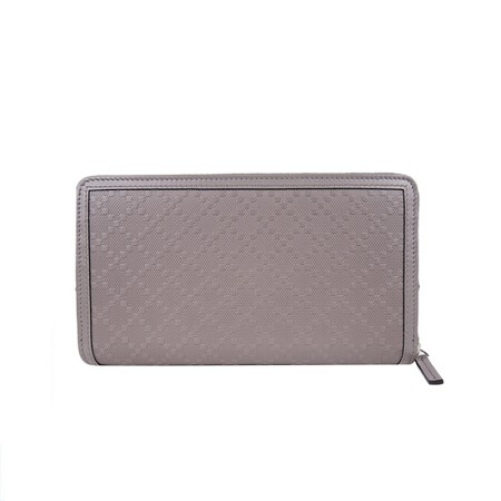 Gucci Leather Zip Around Wallet - Grey