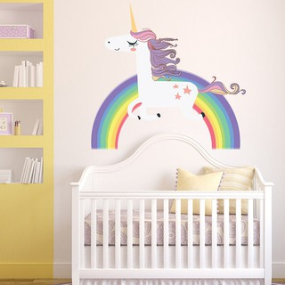 Rainbow Unicorn Wall Sticker S Bedroom Decal Art Nursery Home Decor