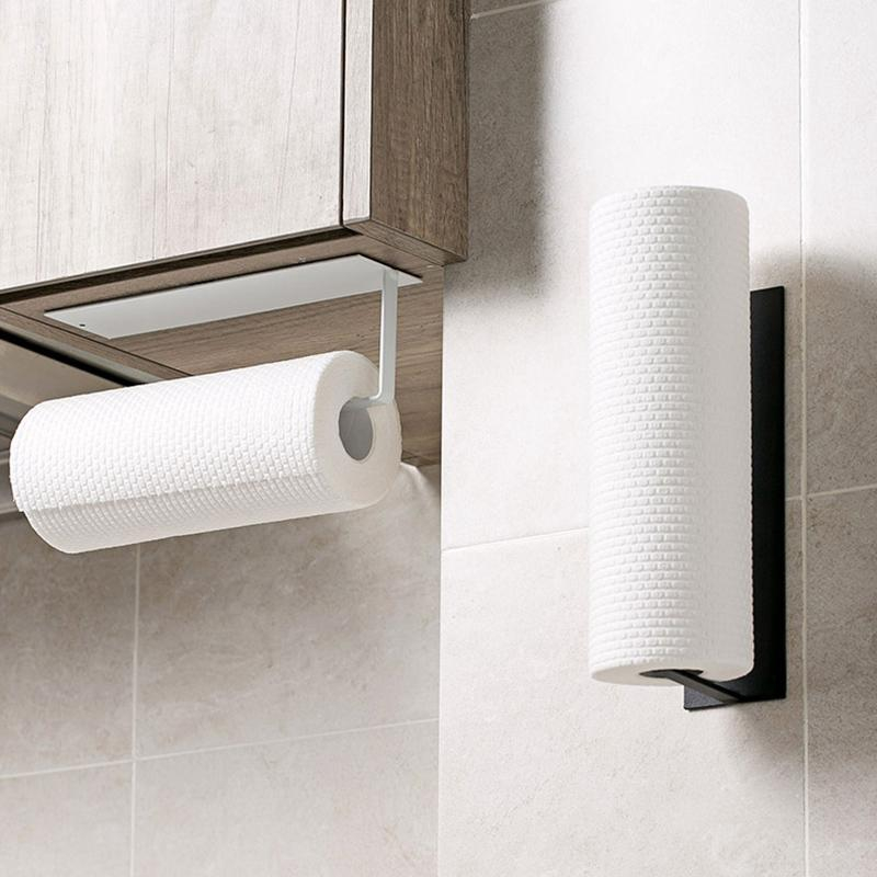 Wall Mounted Tissue Box Bathroom Toilet Roll Paper Holder Rack with Cover CF