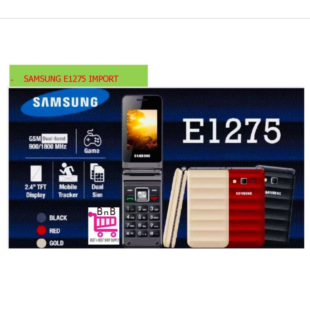 Samsung Flip Phone E1272 Red Import Shopee Malaysia