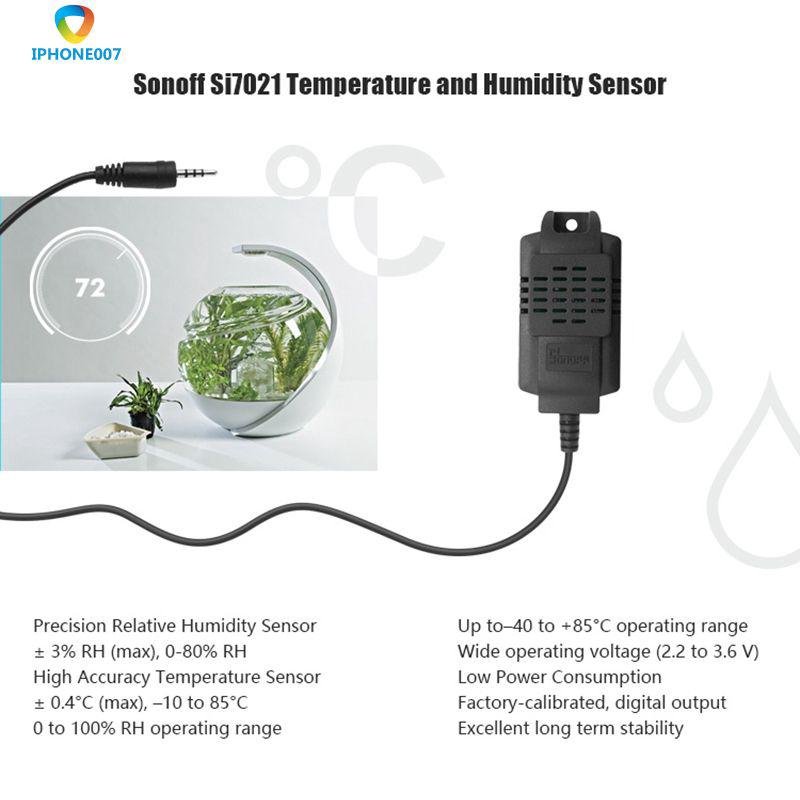 SI7021 Waterproof Sensor Temperature Humidity Monitoring APP Smart Switch  IPH