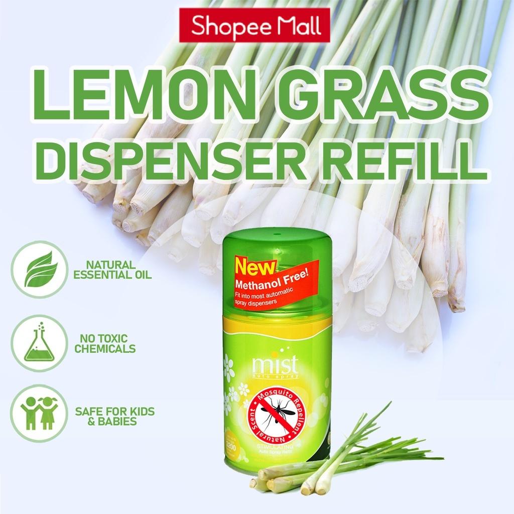 Automatic Dispenser Spray Perfume Refill Natural Mosquito Repellent - Lemon Grass (250ml) Fragrance