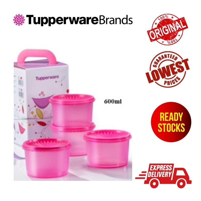 Mini Pink or Purple Deco Canister Tupperware READYSTOCK